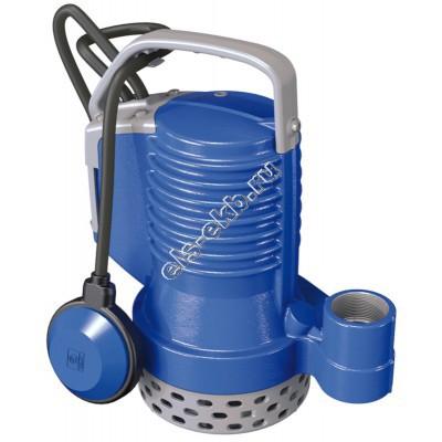 Насос дренажный погружной ZENIT DR Blue 75/2/G32V A1BM/50 с поплавком (Qmax=14,4 м³/час; Hmax=12 м; 220В; 0,55 кВт; кабель 5 метров с вилкой)