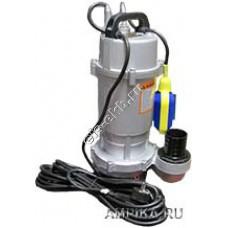 Насос дренажный погружной ГНОМ 10-10_220В с поплавком (Qmax=30 м³/час; Hmax=12 м; 220В; 0,75 кВт; кабель 10 метров с вилкой)