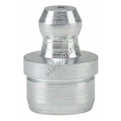 Пресс-масленка коническая прямая H1 A, оцинкованная закаленная сталь заколачиваемая PRESSOL Ø 10 мм VZ-круглая-ESN, арт. 15005