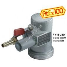 Двигатель пневматический FLUX F416-2Ex, арт. 10-41600030 (170-470 Вт; II 2 G c IIC T6)