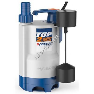 Насос дренажный погружной PEDROLLO TOP-VORTEX 3-GM с рубашкой охлаждения и поплавком (Qmax=10,8 м³/час, Hmax=8,5 м, 220В, 0,55 кВт, кабель 5 метров с вилкой)