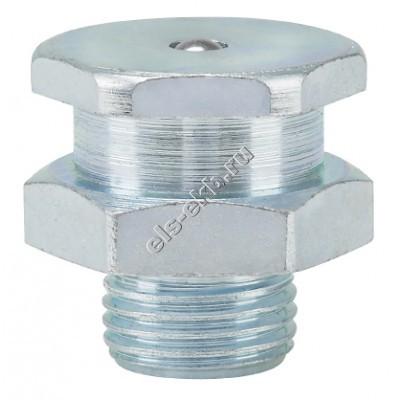 Пресс-масленка плоская T1/B-KØ 16mm, оцинкованная закаленная сталь PRESSOL М12x1,5 VZ, SK, SW 15, SKK, арт. 55817