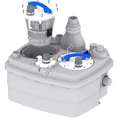 Канализационная станция SFA SANICUBIC 2 PRO NM (Qmax=20,4 м³/час; Hmax=11 м; 220В; 2х1,5 кВт)