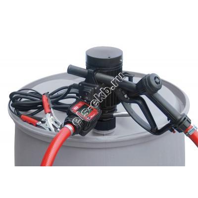 Комплект бочковой для дизельного топлива электрический+ручной PIUSI PICO 24 K24 M, арт. F00202100 (Qmax=30 л/мин; 24В; со счетчиком)