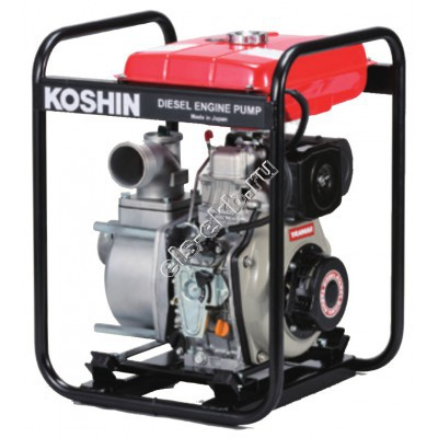 Мотопомпа дизельная KOSHIN STY-80D (Qmax=52,8 м³/час; Hmax=26 м; DN 80; двигатель: Yanmar L48N6)