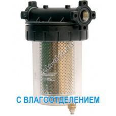 """Фильтр с колбой для бензина, керосина, дизельного и авиационного топлива GESPASA FG-100G, арт. 39071 (Qmax=105 л/мин; 5 мкм; 1"""" BSP; с влагоотделением)"""