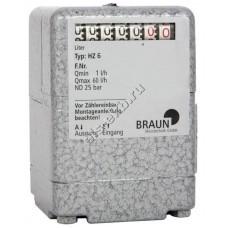 Счетчик механический PRESSOL HZ6 (0,017-1 л/мин, для горелок, дизтопливо)