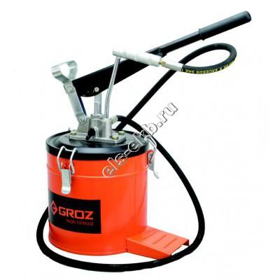 Нагнетатель смазки ручной GROZ VGP-6A, арт. 44280 (с переключателем давления, с емкостью 6 л)