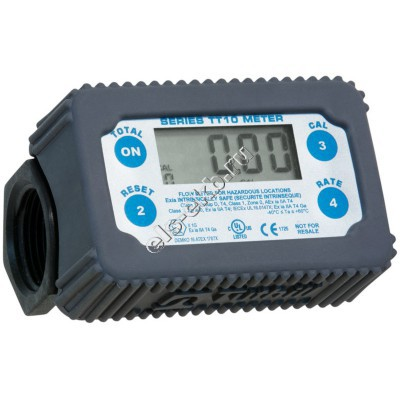 Счетчик электронный FILL-RITE TT10P (8-132 л/мин; техническая вода, антифризы, AdBlue)