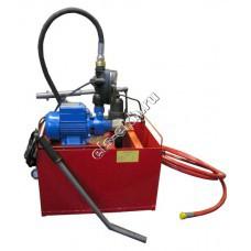 Опрессовщик электрический+ручной УГИ-450Э (Pmax=450 атм; Qmax=10 л/мин; 220В; с баком 45л)