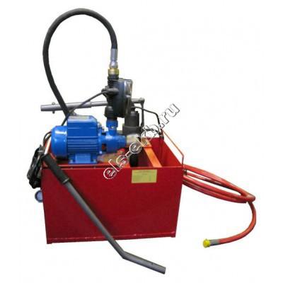 Насос опрессовочный электрический+ручной УГИ-450Э (Pmax=450 атм; Qmax=10 л/мин; 220В; с баком 45л)