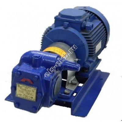 Насос шестеренный ЭЛС НМШ 8-25-6,3/10 с 4.0 кВт (Qmax=6,3 м³/час; Pmax=10 атм; 4.0 кВт; 380В)
