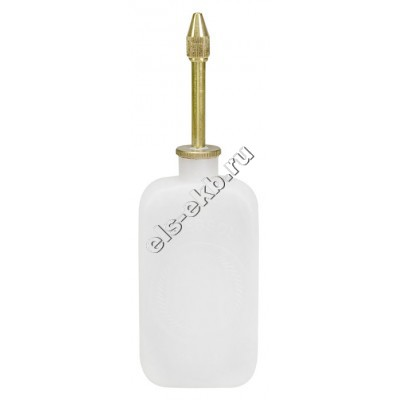 Маслёнка нажимная PRESSOL, арт. 06863 (50 мл, с крышкой и латунной трубкой, прозрачная)