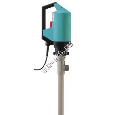 Насос бочковой электрический GRUEN PUMPEN p400-А-230 DL-PP-R-Niro-1000 (Qmax=100 л/мин, Hmax=20 м, 220В, без отключения при снятии напряжения)