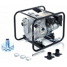 Мотопомпа бензиновая для сильнозагрязненной воды KOSHIN KTH-50X o/s (Qmax=42 м³/час, Hmax=30 м, DN 50, двигатель: Honda GX160, с датчиком уровня масла)