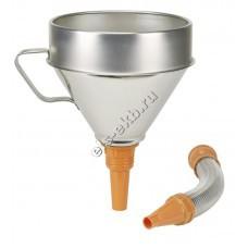 Воронка металлическая для бензина и масла PRESSOL, арт. 02344950 (Ø200 мм, 3,2 л, с ситом, с прямым и гибким сливом)