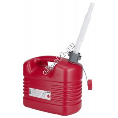 Канистра для бензина PRESSOL, арт. 21133 (10 л; со сливом)