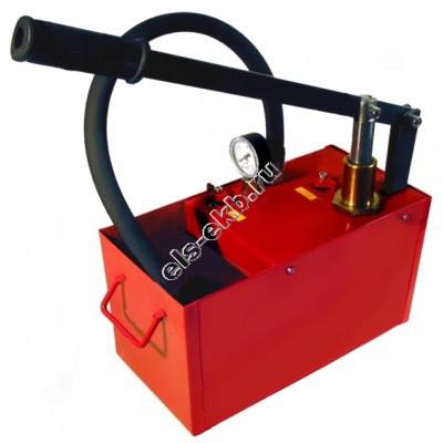 Насос опрессовочный ручной УГО-50 (Pmax=50 атм; Qmax=5,3 cм³/цикл; с баком 16 л)