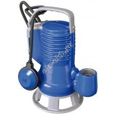 Насос фекальный погружной ZENIT DG Blue75/2/G40V A1BM/50 с поплавком (Qmax=21,6 м³/час; Hmax=10,1 м; 220В; 0,55 кВт; кабель 5 метров с вилкой)