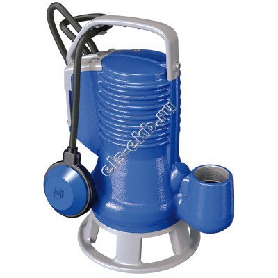 Насос фекальный погружной ZENIT DG Blue75/2/G40V A1BM/50 с поплавком (Qmax=21,6 м³/час, Hmax=10,1 м, 220В, 0,55 кВт, кабель 5 метров с вилкой)