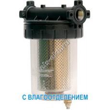 """Фильтр с колбой для дизельного топлива GESPASA FG-100, арт. 39023 (Qmax=105 л/мин; 5 мкм; 1"""" BSP; с влагоотделением)"""