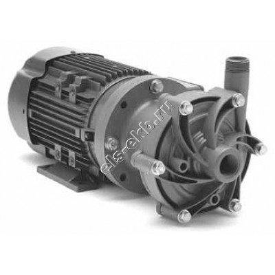 Насос центробежный с магнитной муфтой FINISH THOMPSON DB-8V с э/д 0,75 кВт (PVDF; Qmax=15 м³/час; Hmax=14 м; 380В; 0,75 кВт)