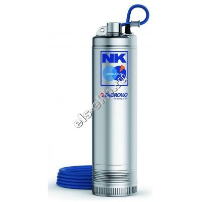 Насос погружной многоступенчатый PEDROLLO NK 4/4-N (Qmax=7,2 м³/час; Hmax=52 м; 380В; 0,75 кВт; кабель 20 метров)