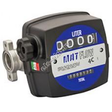 Счетчик механический ADAM PUMPS MAT FLOW 4C, арт. MF4 (20-120 л/мин, дизтопливо)