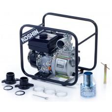 Мотопомпа бензиновая KOSHIN STV-80X (Qmax=54 м³/час; Hmax=26 м; DN 80; двигатель: Koshin K180)