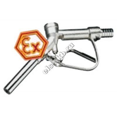 Пистолет химический ручной FLUX из никелированной латуни, арт. 10-00112337 (Штуцер под шланг Ø 25 мм; 80 л/мин; уплотнение PTFE)