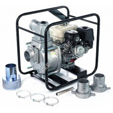 Мотопомпа бензиновая для среднезагрязненной воды KOSHIN STH-100X o/s (Qmax=54 м³/час, Hmax=26 м, DN 100, двигатель: Honda GX160, с датчиком уровня масла)