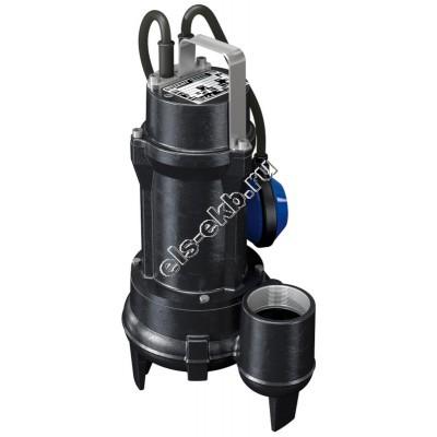 Насос фекальный погружной ZENIT DGE150/2/G50V B0CM/50 с поплавком (Qmax=36 м³/час, Hmax=13,9 м, 220В, 1,1 кВт, кабель 5 метров с вилкой)